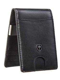 Tipmile Mens RFID Blocking Bifold Wallet with Money Clip Credit Card Holder
