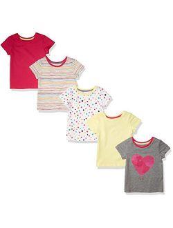Girls' 5-pack Fashion T-shirts