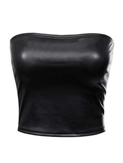 MixMatchy Women's Causal Strapless Cute Basic Solid SexyTube Top
