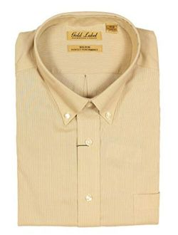 Gold Label Roundtree & Yorke Big and Tall Non-Iron Wrinkle-Resistant Men's Long Sleeve Shirt