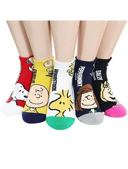 The Peanuts Snoopy Women and teen girls Licensed Socks Collection Socksense