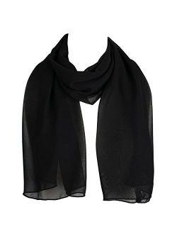 HatToSocks Chiffon Scarf Sheer Wrap for Women