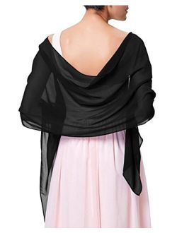 Kate Kasin Soft Chiffon Scarve Shawls Wraps and Pashmina for Evening Party Dress