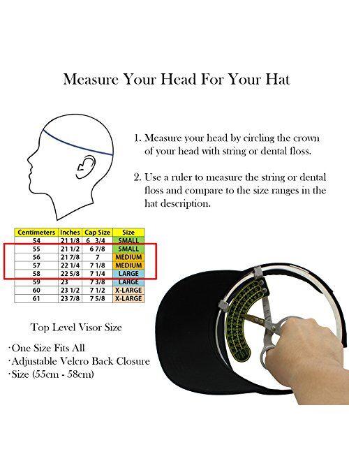 Top Level Sun Sports Visor Men Women - One Size Cap Hat