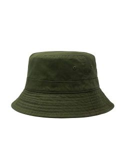 CHOK.LIDS Cotton Bucket Hats Unisex Wide Brim Outdoor Summer Cap Hiking Beach Sports