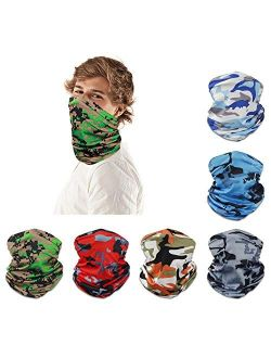 Neck Gaiter for Men UV Protection Seamless Bandana Face Scarf Headwear