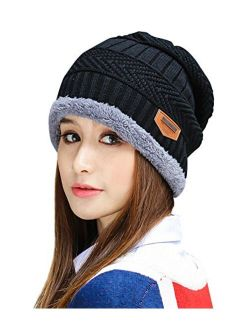 HINDAWI Womens Slouchy Beanie Winter Hat Knit Warm Snow Ski Skull Outdoor Cap
