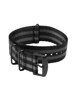Archer Watch Straps - Seat Belt Weaved Nylon Premium Quality NATO Straps   Heavy Duty Military Style Replacement Watch Band   Choice of Color and Size (18mm, 20mm, 22mm)