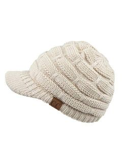 C.C Hatsandscarf Exclusives Women's Ribbed Knit Hat with Brim (YJ-131)(YJ-2023)