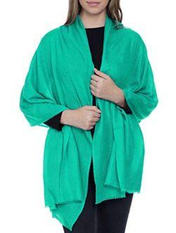 Made In Kashmir (Gift Box) Soft Scarf Merino Wool Silk Blend Cashmere Feel Wrap Women Men Pashmina Shawl Autumn Winter 20/21