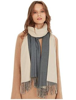 Womens Pashmina Shawls Wraps Warm Winter Scarfs Gift Reversible Soft Cashmere Feel Fall Scarf For Girls