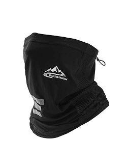 Seamless Rave Bandana Neck Gaiter Tube Headwear Bandana, Motorcycle Face Bandana Multi-purpose Face Cover For Outdoors