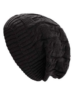 Womens Winter Knit Slouchy Beanie Baggy Warm Soft Chunky Cable Hats