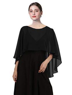 Chiffon Capes Soft Shawls and Wraps Capelets for Bridesmaid Wedding Formal Party Evening Dresses