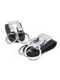 goldblue Belt Keychain Leather Belt Loop Key Holder Belt Key Chain Clips with 2 Detachable Keyring for Men