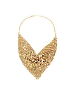 MANILAI Chunky Metal Statement Necklace For Women Neck Bib Collar Choker Necklace Maxi Jewelry