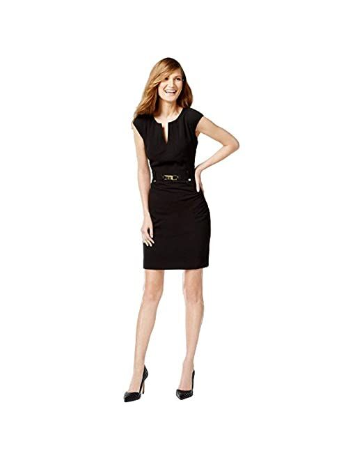 Calvin Klein Women's Shift Dress with Gold-Tone Hardware