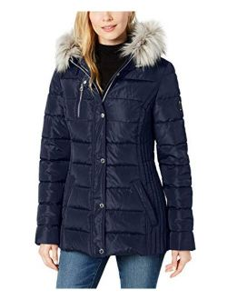 Women's Snap And Zip Coat