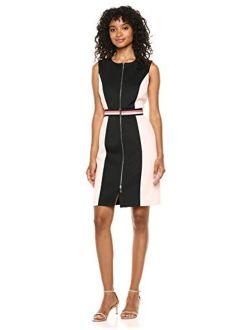 Women's Classic Scuba Zip Up Dress