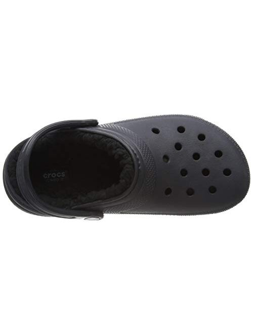 Crocs Men's and Women's Classic Lined Clog   Warm and Fuzzy Slippers