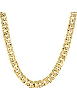 LIFETIME JEWELRY 6mm Cuban Link Chain Necklace 24k Gold Plated for Men and Women