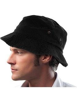 DS Mens 100% Cotton Fishing Hunting Summer Bucket Cap Hat