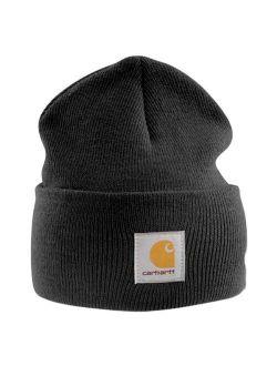 - Acrylic Watch Cap - Grey Beanie Ski Hat