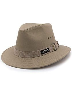 "Men's Original Canvas Safari Sun Hat, 2 1/2"" Brim, UPF (SPF) 50+ Sun Protection"