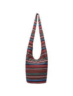 Women Hand Fashion canvas Hippie Crossbody Bags Cotton Bohemian Animal Prints Hobo Bags