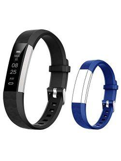 BIGGERFIVE Fitness Tracker Watch for Kids Girls Boys Teens, Activity Tracker, Pedometer, Calorie Counter, Sleep Monitor, Vibrating Alarm Clock,IP67 Waterproof Step Counte