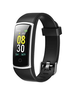YAMAY Fitness Tracker with Blood Pressure Monitor Heart Rate Monitor,IP68 Waterproof Activity Tracker 14 Mode Smart Watch with Step Counter Sleep Tracker,Fitness Watch fo