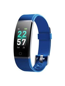 Letsfit Fitness Tracker, Activity Tracker Watch with Heart Rate Monitor, IP68 Waterproof Smart Watch with Step Counter, Calorie Counter, Call & SMS Pedometer Watch for Wo
