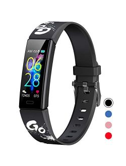 Mgaolo Slim Fitness Tracker for Kids Women,IP68 Waterproof Activity Tracker with Blood Pressure Heart Rate Sleep Monitor,11 Sport Modes Health Smart Watch with Pedometer