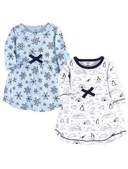 Touched by Nature Girls, Toddler, Baby and Womens Organic Cotton Short-Sleeve and Long-Sleeve Dresses