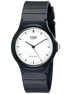 Men's Mq24-7e Casual Watch With Black Resin Band
