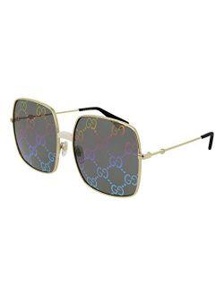 Gg0414s 003 Endura Gold/ivory Gg0414s Square Sunglasses Lens Category 3, 60-17-140