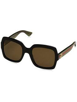 0036s 002 Black 0036s Square Sunglasses Lens Category 3 Size 54mm