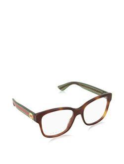 - Gg0038o Optical Frame Acetate (avana/green, Clear)