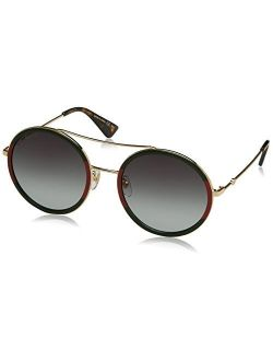 Gg0061s 003 Green/red/gold Gg0061s Round Sunglasses Lens Category 3 S