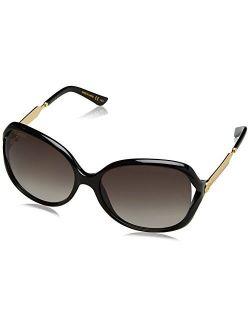 Women 0076s 60 Black/grey Sunglasses 60mm