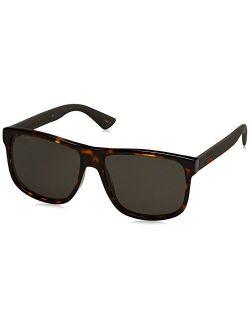 Men Gg0010s 58 Tortoise/grey Sunglasses 58mm