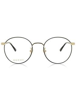 Gg0297ok Trendy Round Metal Eyeglasses 52mm