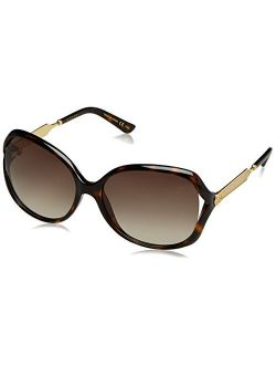 Women's Oval Sunglasses - Havana/brown, 60-16-130