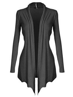 Women's Open - Front Long Sleeve Knit Cardigan (s~5xl)