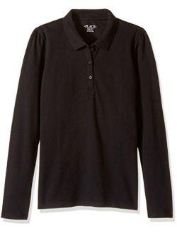 Girls' Uniform Long Sleeve Pique Polo