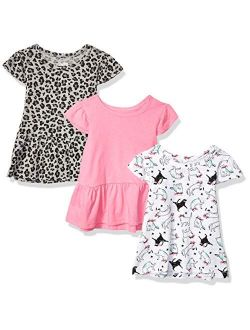 Amazon Brand - Spotted Zebra Girls Short-Sleeve Flutter T-Shirts