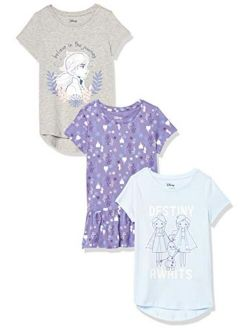 Spotted Zebra Girls' Disney Star Wars Marvel Frozen Princess Short-Sleeve Tunic T-Shirts