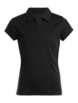 Girls' School Uniform Short Sleeve Performance Polo