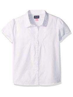 Girls' Uniform Short Sleeve Blouse