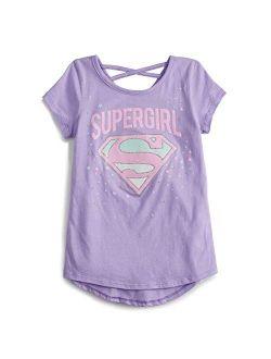 Jumping Beans Little Girls' 4-12 Super Girl Shield Tee